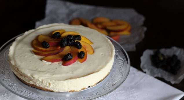 CHEESECAKE ALLA PESCA SENZA COTTURA/NO BAKE PEACH CHEESECAKE