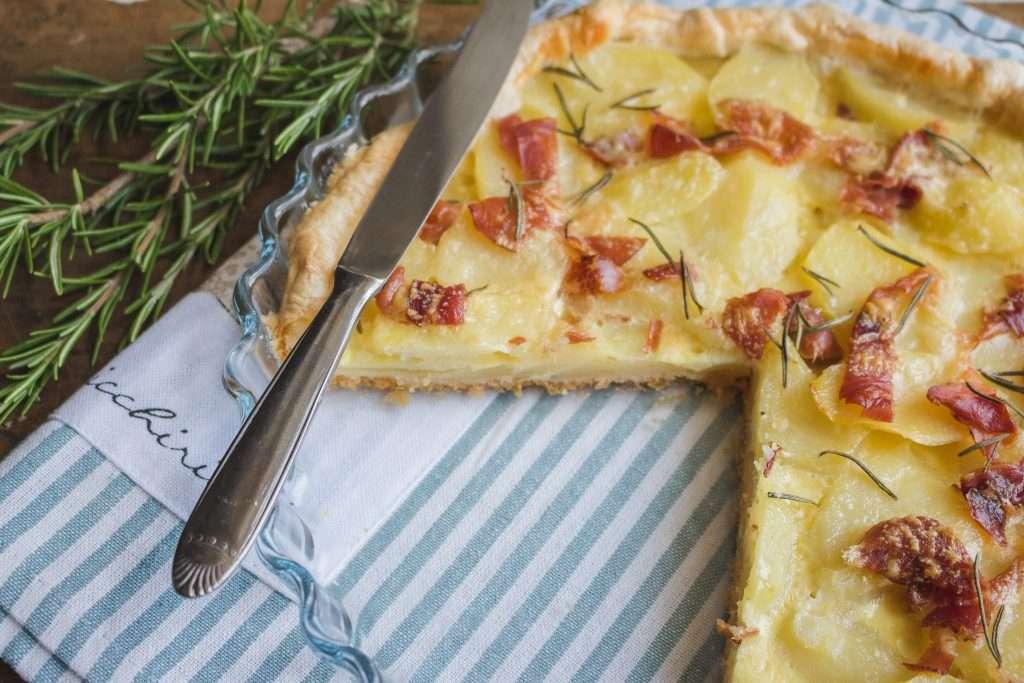 la ricetta della quiche patate e speck