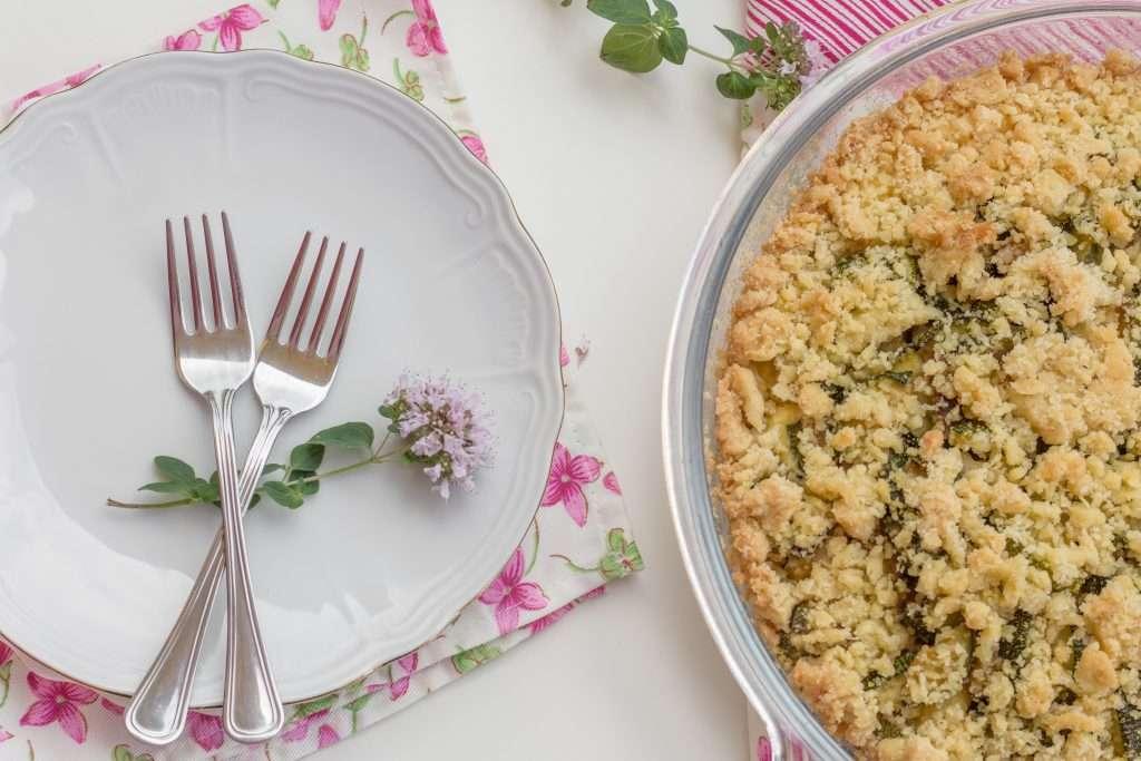 la ricetta della sbriciolata salata alle zucchine