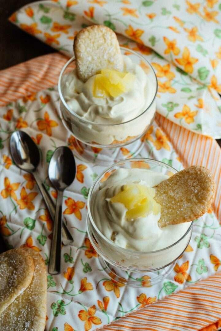 la ricetta della mousse all'ananas